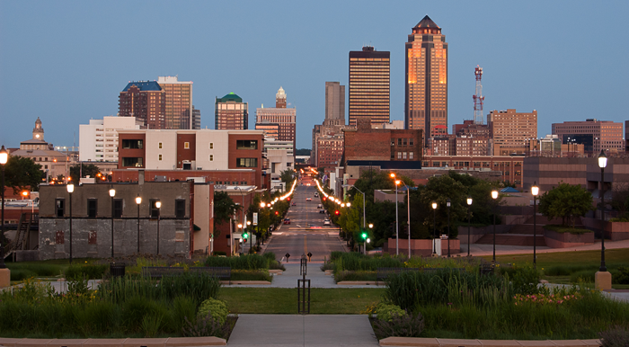 Image credit: Downtown Des Moines, by Mark Hesseltine